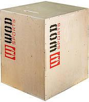 Тумба для кросфіту (пліометричні бокси) WOD 40-40-20 см