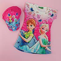 Платье туника с кепкой Фрозен (Дисней) для девочек размер 3-12 лет