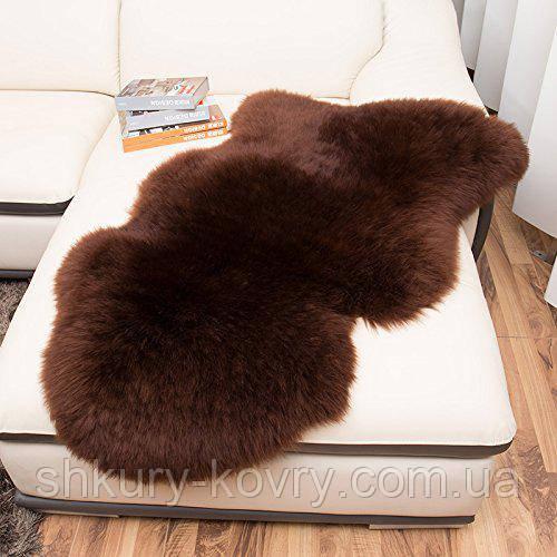 Овчина коричнева шкура шоколадного кольору, темні овечі шкури