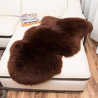 Овчина коричневая, шкура шоколадного цвета, темные овечьи шкуры, фото 1