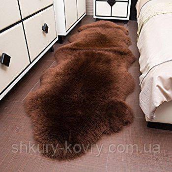 Подвійна темно коричнева овчина меринос з Нової Зеландії