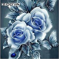 """Алмазная вышивка размер изображения 30×30 - набор """"Английские розы - 3"""""""