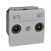 Розетка ТВ-R-SAT механизм Белый Unica Schneider, MGU3.454.18