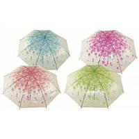 Зонт полуавтомат трость фиолетовый 60 см ( складной зонт )