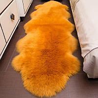 Двойная ярко оранжевая овчина меринос из Новой Зеландии, фото 1