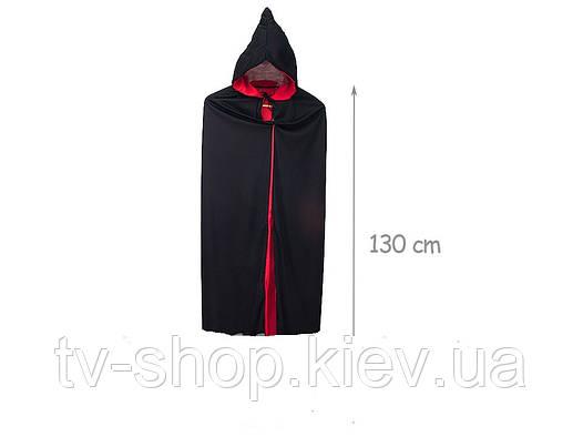 Плащ черно-красный 2 в 1 (130 см)