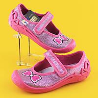 Тапочки на девочку 3F детская текстильная обувь Польша р.20,21,22,25