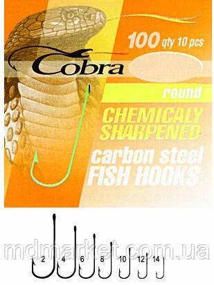 Крючки Cobra ROUND сер.100N №8 10шт. (оригинал) CA124