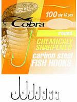 Крючки Cobra ROUND сер.100N №14 10шт. (оригинал) CA124