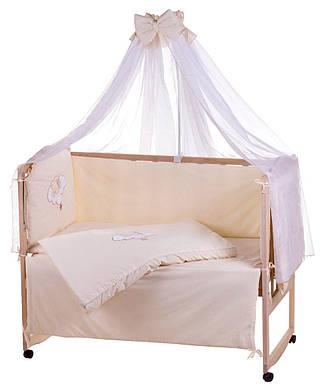 Детская постель Qvatro Ellite AE-08 апликация Бежевый (мишка спит на облаке)