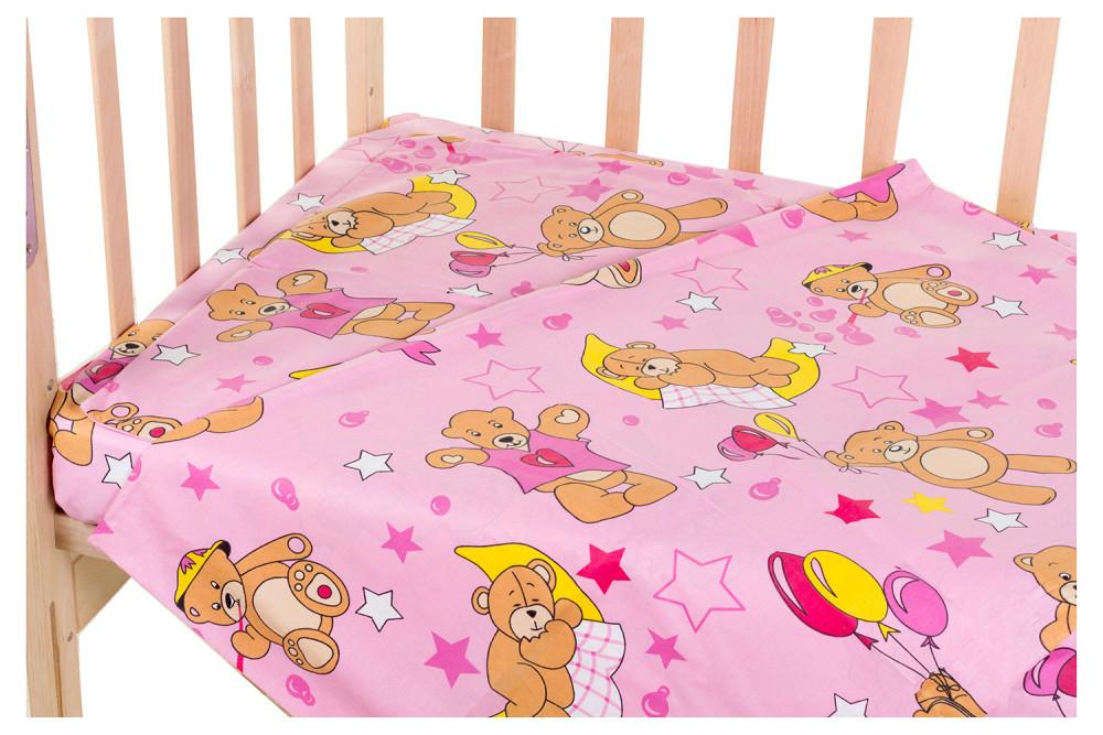 Змінний комплект Qvatro Gold SG-03 малюнок рожевий (ведмедики з кульками)