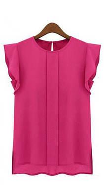 Розовая шифоновая блуза