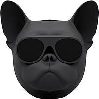 Беспроводная портативная Bluetooth колонка SUNROZ Aerobull Dog Chrome Black (SUN0113)