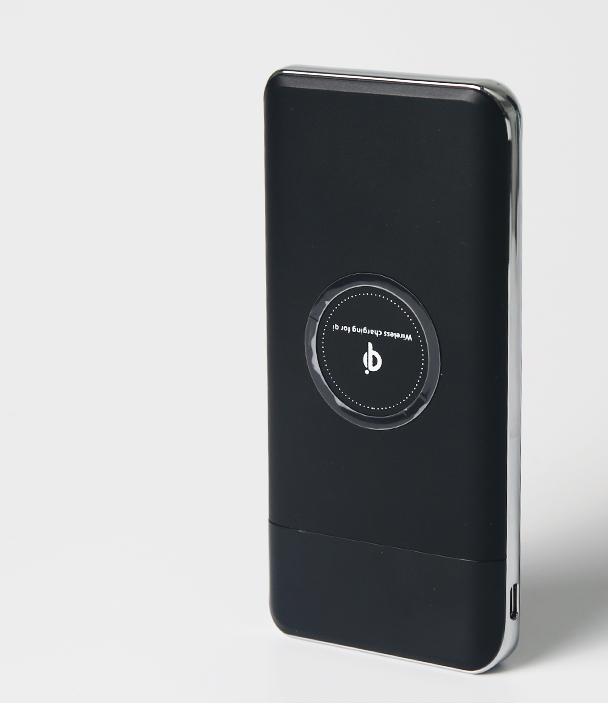 """Универсальное зарядное устройство SUNROZ QI Power Bank с беспроводной зарядкой  LCD дисплей 10000mAh (SUN0154) - интернет-магазин """"UFY""""  в Днепре"""
