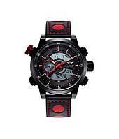 Наручные часы AMST AM3013 Мужские наручные водонепроницаемые часы, Черно-Красные (SUN0224)
