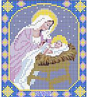 Схема иконы для вышивки бисеромПа5-103 Рождество Христово