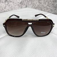 Солнцезащитные очки Gucci Sunglasses Aviator Metal Logo Brown