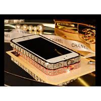 Бампер Bulgari для IPhone 5/5S Luxury Snake Со стразами серебристий