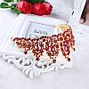 Корона і сережки РОЗАЛІЯ діадема з червоними каменями і довгі сережки біжутерія, фото 6