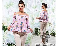 Блуза  с  открытыми  плечами  -  15414