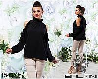 Блуза  с  рюшами  -  15437