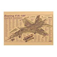 Декор: плакат Boeing F/A - 18F Super Hornet, фото 1