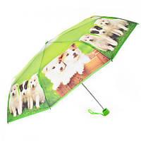 Зонт складной механический зеленый 56 см ( зонт женский  )
