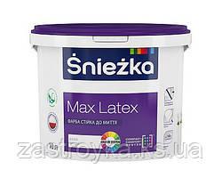 """Краска латексная стойкая к мытью, Снежка """"MAX LATEX"""", 3л"""