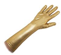 Перчатки атласные длинные золото