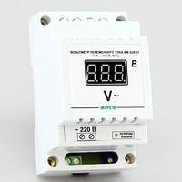 Цифровой вольтметр переменного тока на DIN-рейку (100-400В) ВМ-220/D1, фото 1