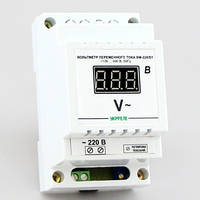 Цифровой вольтметр переменного тока на DIN-рейку (100-400В) ВМ-220/D1