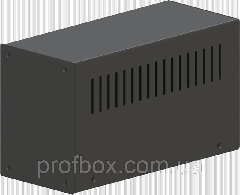 Корпус металевий MB-10 (Ш90 Г210 В120) чорний, RAL9005(Black textured)