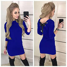 """Модное женское платье облегающее с вырезом на спине, рукав 3/4 """"Leylaa"""" хаки, фото 3"""
