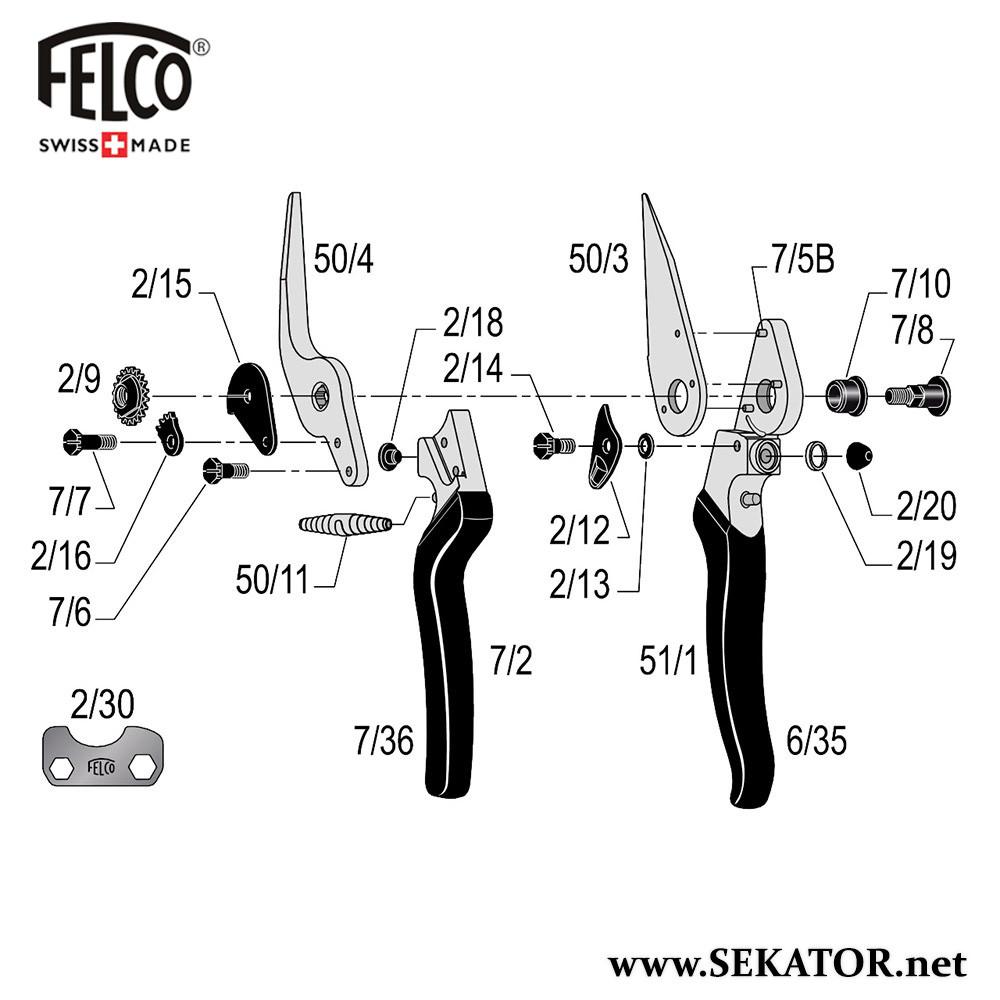 Змінні деталі до секатора Felco 51