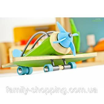 """Деревянная игрушка самолет из бамбука """"E-Plane"""""""
