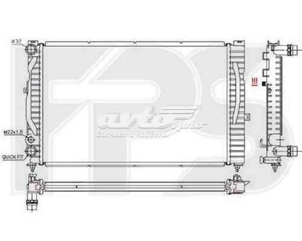 Радиатор охлаждения Ауди Audi A4(94-01)B5, фото 2