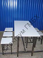 Cтол и табуретки обеденные для столовой пищевого производства, фото 1