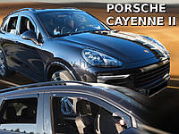 Дефлекторы окон (ветровики)  Porsche Cayenne II 2010->(HEKO)