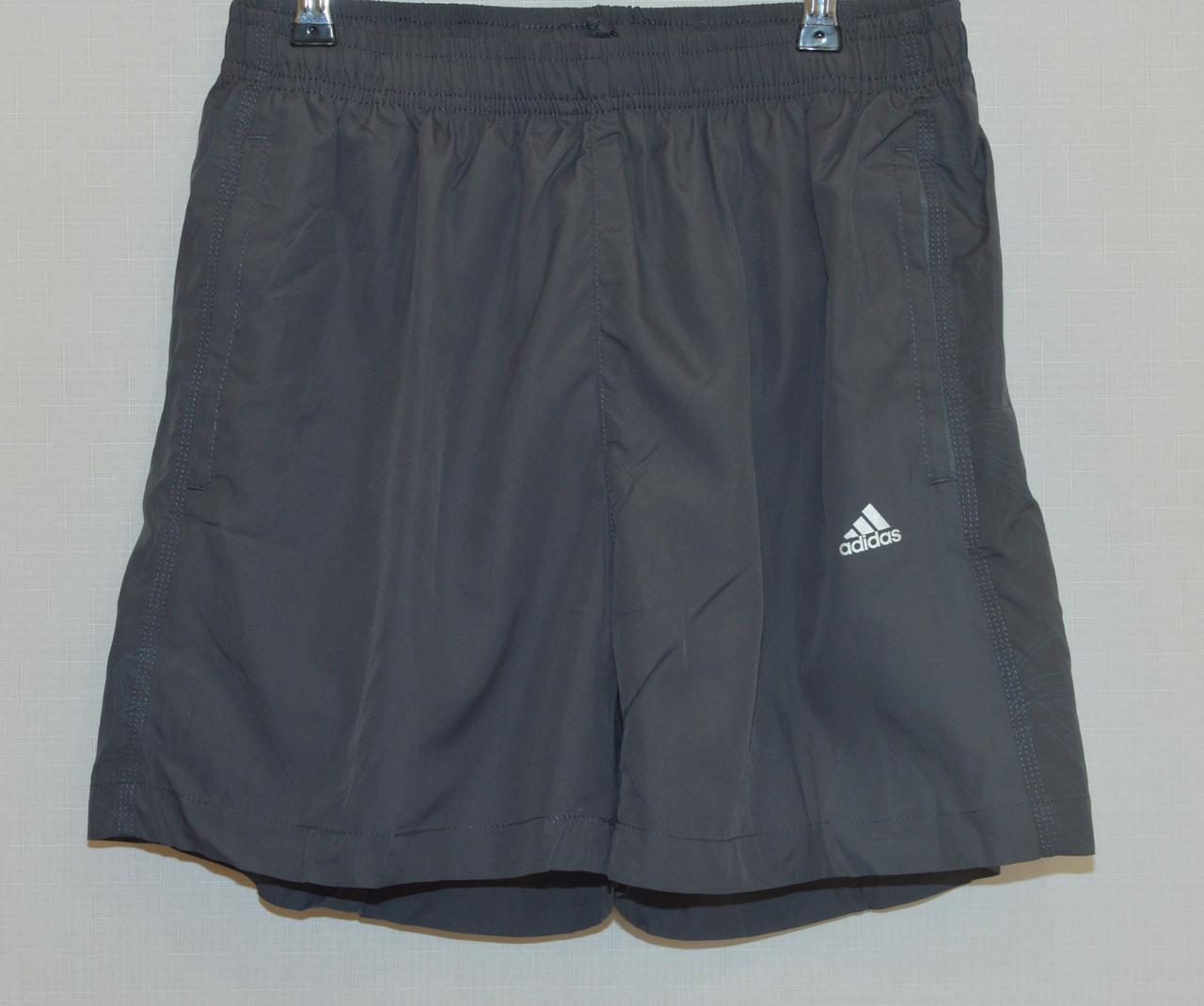 Мужские шорты плащевка ADIDAS серые 627 (Реплика) M