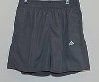 Мужские шорты плащевка ADIDAS серые 627