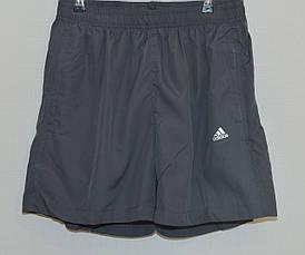 Мужские шорты плащевка ADIDAS серые 627 (Реплика)
