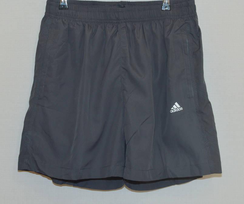 Мужские шорты плащевка ADIDAS серые 627 (Реплика) M, фото 2