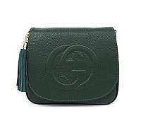 Сумочка-клатч женская кожзам зеленая Gucci 0201, фото 1