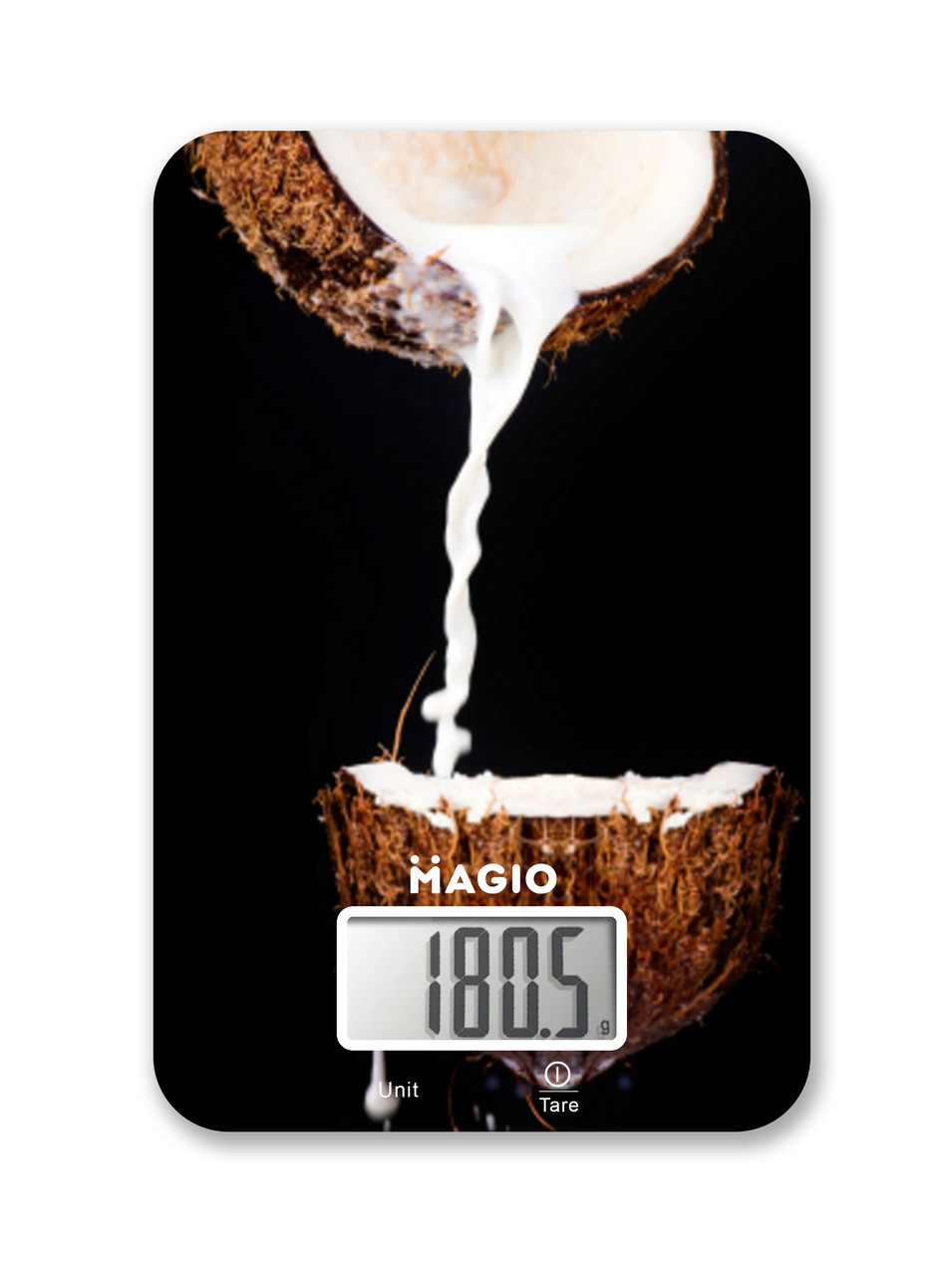 Весы кух.MAGIO MG-296 5 кг/электр./ стекло(кокос).