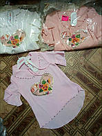 Блузка для девочки 6-9 лет персикового,молочного,розового цвета оптом
