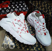 bf5c31bcc0b5 Кроссовки женские Nike Huarache White Supreme Louis Vuitton