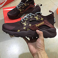 7e9c42fc1a7d Кроссовки женские Nike Huarache Brown Supreme Louis Vuitton