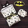"""Весенний конверт-одеяло для новорожденных """"Бэтмен""""  (подушка в подарок)"""