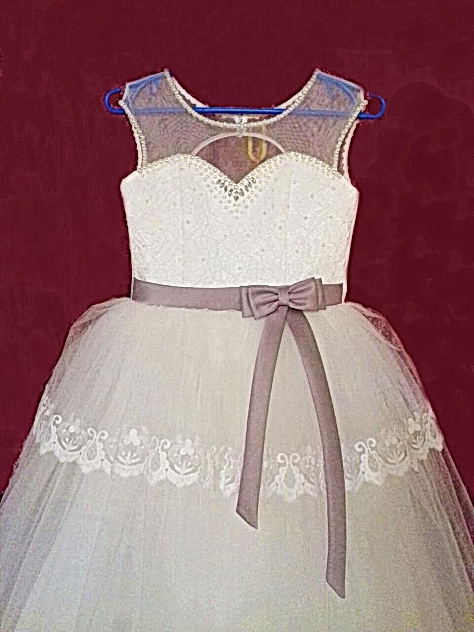 Нарядное бальное платье на девочку 10 лет с пышной фатиновой юбкой