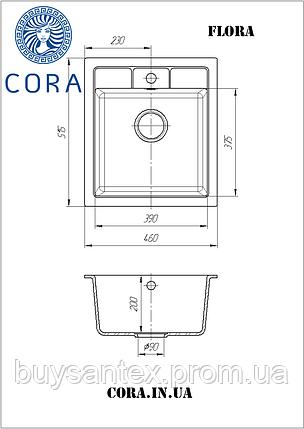 Кухонная мойка Cora - Flora Black, фото 2